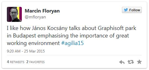 Twitter post - Marcin Floryan